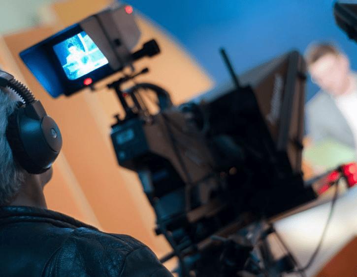 tv interview - tv camera
